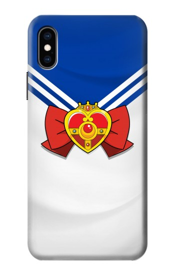 Printed Sailor Moon Brooch and Bow iPhone XS Case