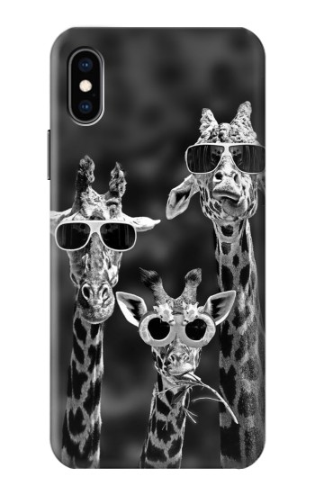Printed Giraffes With Sunglasses iPhone XS Case