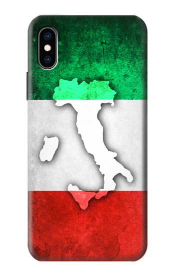 Printed Italy Flag iPhone XS Case