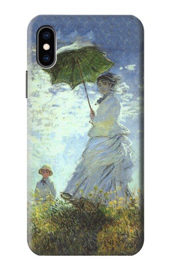 Printed Claude Monet Woman with a Parasol iPhone XS Case