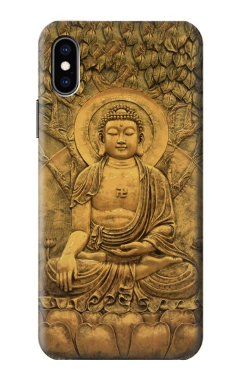 Printed Buddha Bas Relief Art iPhone XS Case