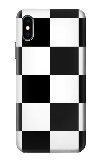 Printed Black and White Checkerboard iPhone XS Case