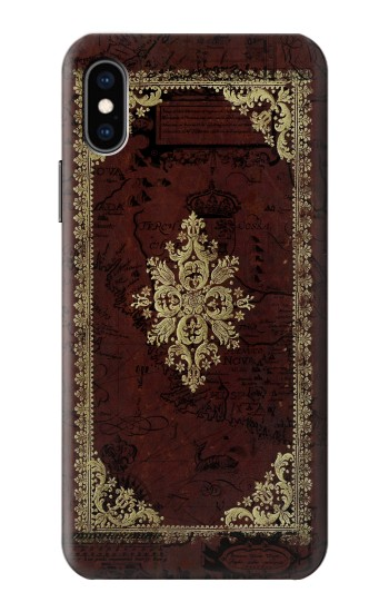 Printed Vintage Map Book Cover iPhone XS Case