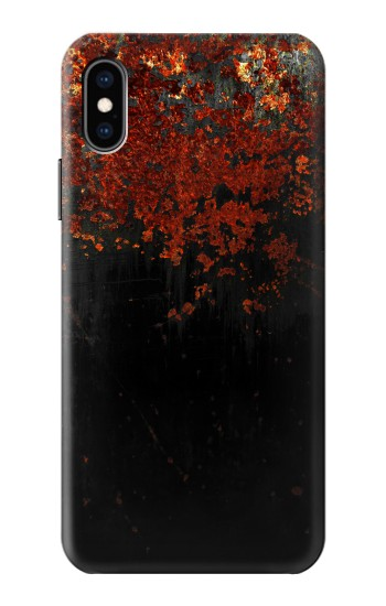 Printed Rusted Metal Texture iPhone XS Case