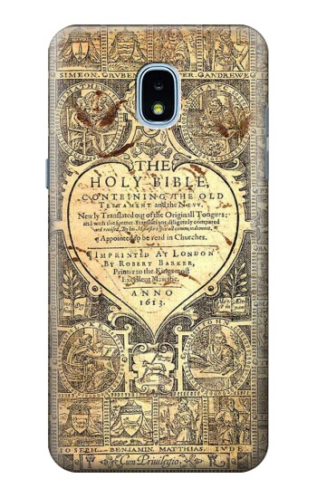 Printed Bible Page Samsung Galaxy J3 (2018) Case