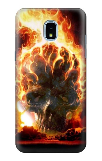 Printed Hell Fire Skull Samsung Galaxy J3 (2018) Case
