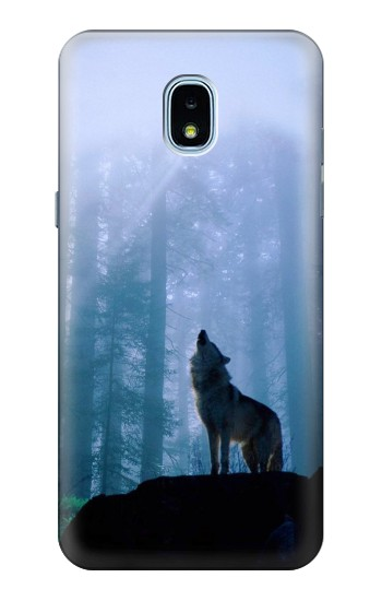 Printed Wolf Howling in Forest Samsung Galaxy J3 (2018) Case