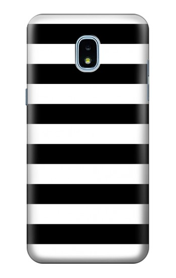 Printed Black and White Striped Samsung Galaxy J3 (2018) Case
