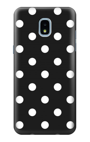 Printed Black Polka Dots Samsung Galaxy J3 (2018) Case