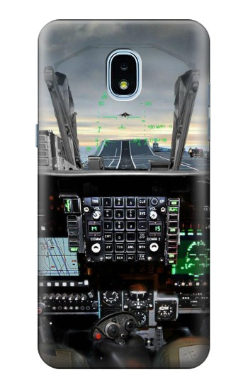 Printed Fighter Jet Aircraft Cockpit Samsung Galaxy J3 (2018) Case