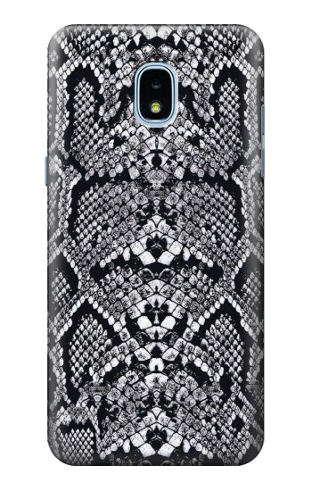 Printed White Rattle Snake Skin Samsung Galaxy J3 (2018) Case