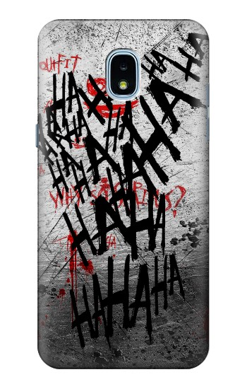 Printed Joker Hahaha Blood Splash Samsung Galaxy J3 (2018) Case