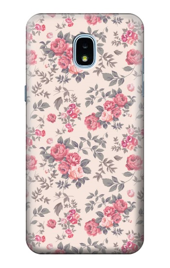 Printed Vintage Rose Pattern Samsung Galaxy J3 (2018) Case