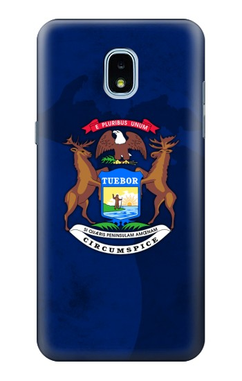 Printed State of Michigan Flag Samsung Galaxy J3 (2018) Case