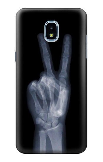 Printed X-ray Peace Finger Samsung Galaxy J3 (2018) Case