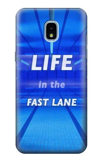 Printed Life in the Fast Lane Swimming Pool Samsung Galaxy J3 (2018) Case