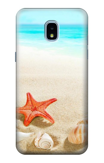 Printed Sea Shells Starfish Beach Samsung Galaxy J3 (2018) Case