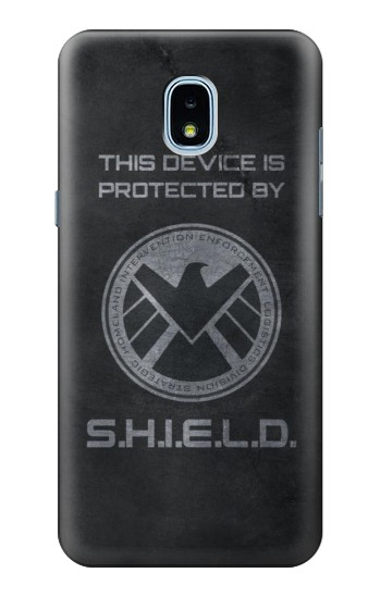 Printed This Device is Protected by Shield Samsung Galaxy J3 (2018) Case