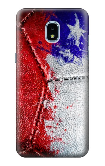 Printed Chile Flag Vintage Football 2018 Samsung Galaxy J3 (2018) Case