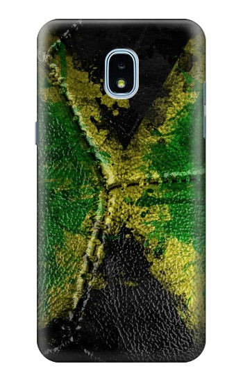 Printed Jamaica Flag Vintage Football 2018 Samsung Galaxy J3 (2018) Case