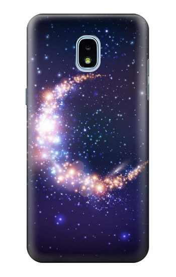Printed Crescent Moon Galaxy Samsung Galaxy J3 (2018) Case