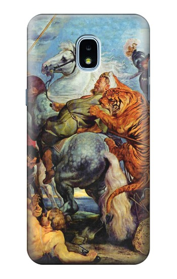 Printed Peter Paul Rubens Tiger und Lowenjagd Samsung Galaxy J3 (2018) Case