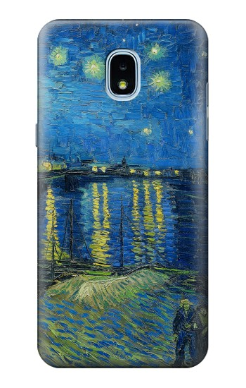 Printed Van Gogh Starry Night Over Rhone Samsung Galaxy J3 (2018) Case