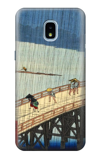 Printed Utagawa Hiroshige Sudden shower over Shin Oashi bridge and Atake Samsung Galaxy J3 (2018) Case