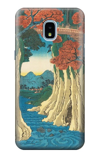 Printed Utagawa Hiroshige The Monkey Bridge in Kai Province Samsung Galaxy J3 (2018) Case