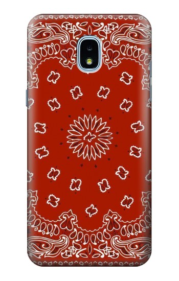 Printed Bandana Red Pattern Samsung Galaxy J3 (2018) Case