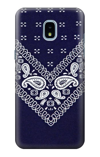 Printed Navy Blue Bandana Pattern Samsung Galaxy J3 (2018) Case