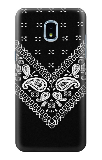 Printed Bandana Black Pattern Samsung Galaxy J3 (2018) Case