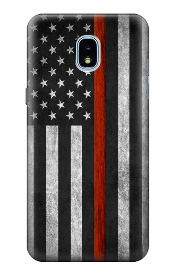 Printed Firefighter Thin Red Line Flag Samsung Galaxy J3 (2018) Case