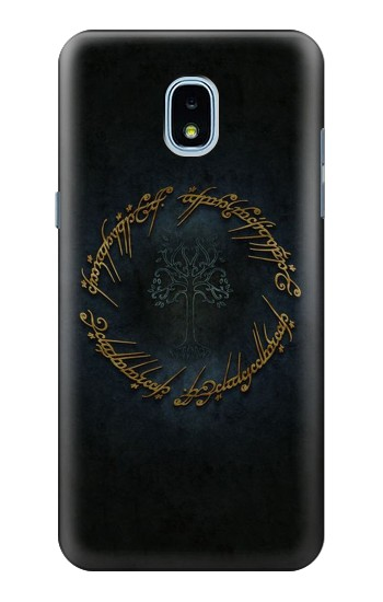 Printed Lord of The Rings Ring Elf Writing Samsung Galaxy J3 (2018) Case