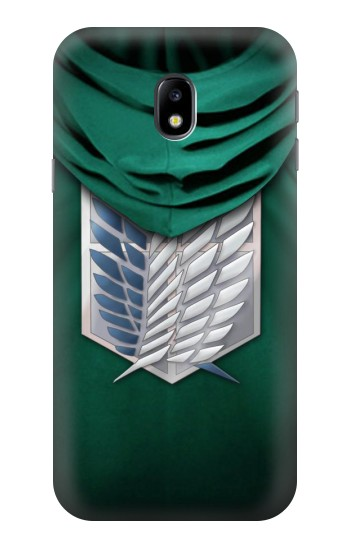 Printed Attack on Titan Scouting Legion Rivaille Green Cloak HTC One A9 Case
