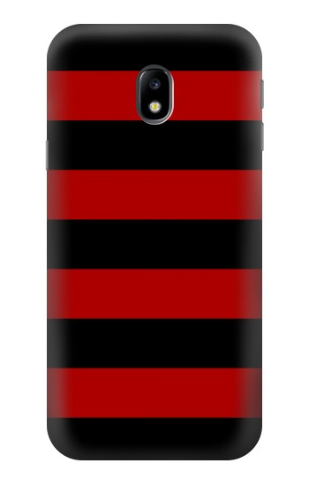 Printed Black and Red Striped HTC One A9 Case