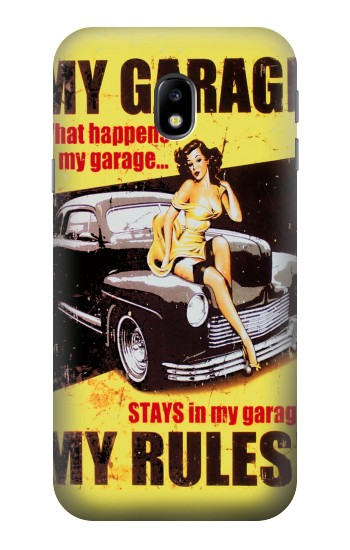Printed My Garage Pinup Girl HTC One A9 Case