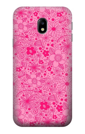 Printed Pink Flower Pattern HTC One A9 Case