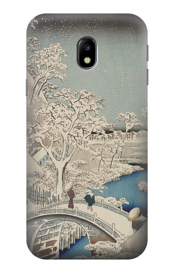 Printed Utagawa Hiroshige The Drum Bridge at Yuhi Hill in Meguro HTC One A9 Case
