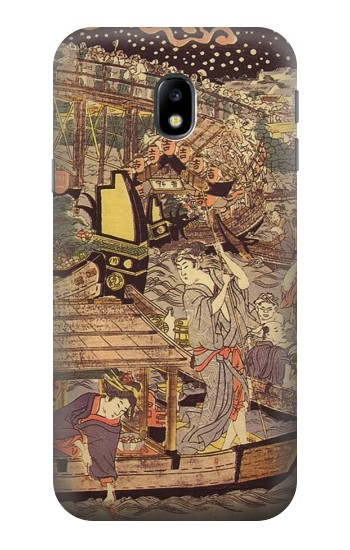 Printed Utagawa Kuniyasu Fireworks at Ryogoku Bridge HTC One A9 Case