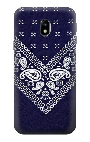 Printed Navy Blue Bandana Pattern HTC One A9 Case