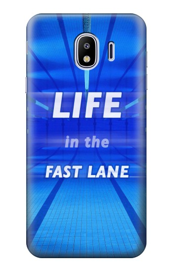 Printed Life in the Fast Lane Swimming Pool Samsung Galaxy J4 Case