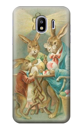 Printed Easter Rabbit Family Samsung Galaxy J4 Case