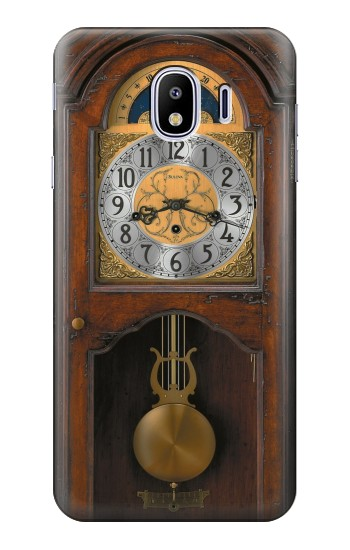 Printed Grandfather Clock Antique Wall Clock Samsung Galaxy J4 Case