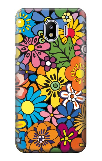 Printed Colorful Flowers Pattern Samsung Galaxy J4 Case