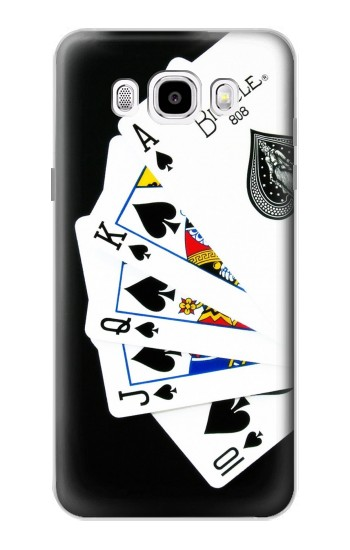Printed Poker Royal Straight Flush Samsung Galaxy J5 (2016) Case