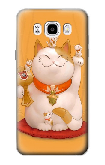 Printed Maneki Neko Lucky Cat Samsung Galaxy J5 (2016) Case