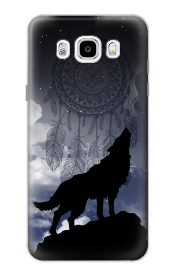 Printed Dream Catcher Wolf Howling Samsung Galaxy J5 (2016) Case