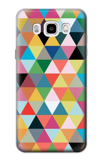 Printed Triangles Vibrant Colors Samsung Galaxy J5 (2016) Case