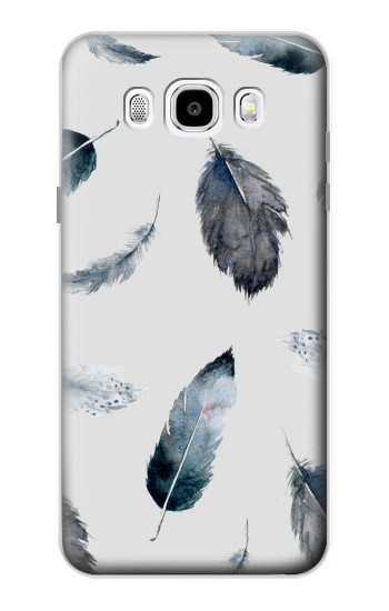 Printed Feather Paint Pattern Samsung Galaxy J5 (2016) Case